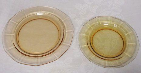 "Fostoria Fairfax Amber Bread Plate, 6.25"""