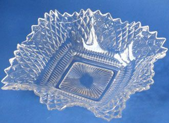 "Westmoreland Sawtooth Ruffled Plates, 6.5"", Crystal"