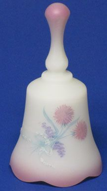 Fenton Mini Bell with Hand-painted Pom-Poms