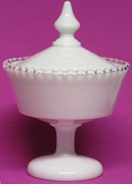 Fenton Silver Crest Covered Candy