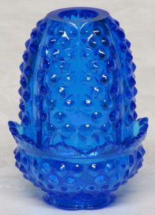 Fenton Hobnail Colonial Blue Mini Fairy Light