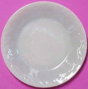 "Fire King Laurel 9"" Gray Dinner Plate"