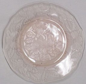 "MacBeth-Evans Pink Dogwood 8"" Luncheon Plate"
