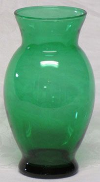 "Hocking Forest Green 6"" Vase"