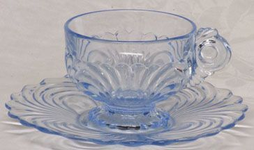Cambridge Caprice Blue Cup and Saucer