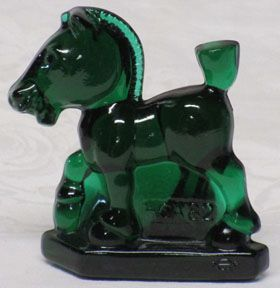 Heisey by Imperial 1982 Horse, Forest Green