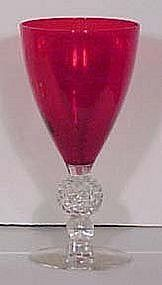 Morgantown Red Golfball Water Goblet, 9 oz.