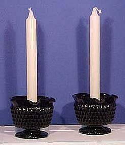 Westmoreland Sawtooth Candle Holders, Black