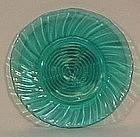 """Jeannette Swirl Ultramarine 6.5"""" Sherbet Plate"""