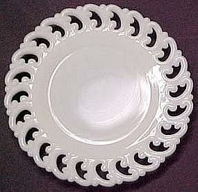 Fenton Reverse C Plate, Milk Glass