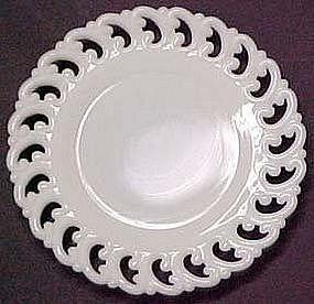 Fenton Reverse C Plate, Milk Glass