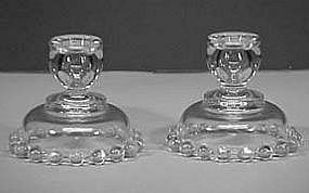 Imperial Candlewick Single Candlesticks (#170)