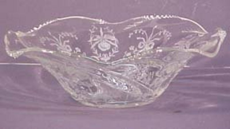 "Heisey Orchid 12"" Bowl"