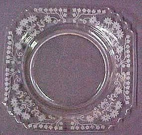 "Fostoria Manor Etched 8"" Plate"