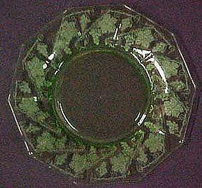 """Cambridge Grape Etched Decagon 8.5"""" Plates"""