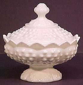 Fenton Hobnail Milk Glass Candy Box