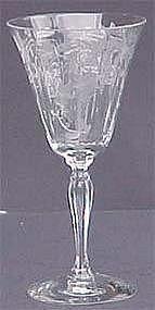 Fostoria Fuchsia Etched Water Goblet