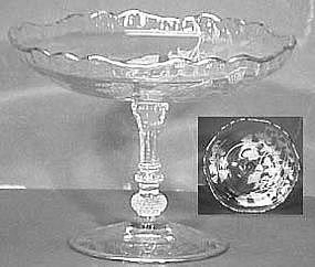 Cambridge Silver Overlay Compote