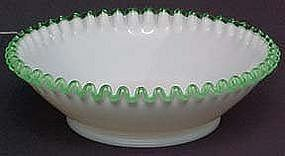 "Fenton Emerald Crest 10"" Bowl"
