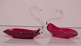 Duncan & Miller Ruby Swan Ash Tray
