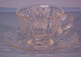 Fostoria Meadow Rose Cup and Saucer