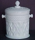 Imperial Cape Cod Covered Candy, milkglass