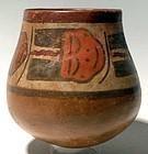 Nazca Trophy Heads Jar