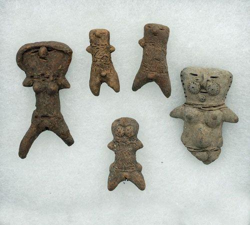 5 Machalilla Figures
