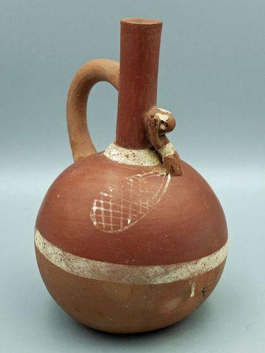Moche Monkey Bottle
