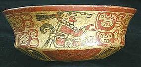 Mayan Chiefs & Glyphs Bowl