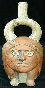 Moche II Little Man Vessel