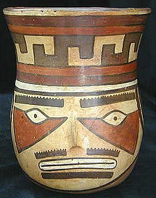 Nazca Portrait Head Vessel