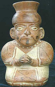 Moche Priest Figure