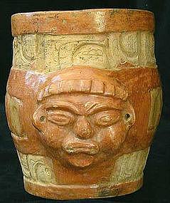 Mayan Effigy Cylinder
