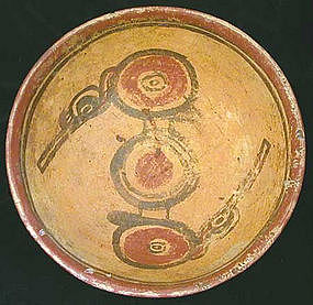 Mayan Bird Bowl - Rare Type