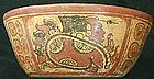 Mayan Chiefs & Glyphs Bowl - Rare Type