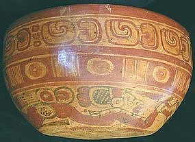 Maya Underworld Swimmer Bowl