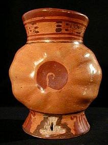 Mayan Footed Vase