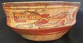 Mayan Dog Deity Bowl