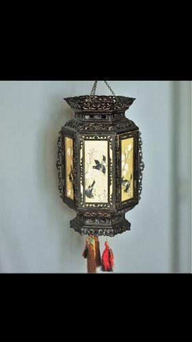 Chinese Antique Zitan Wood Palace Lantern