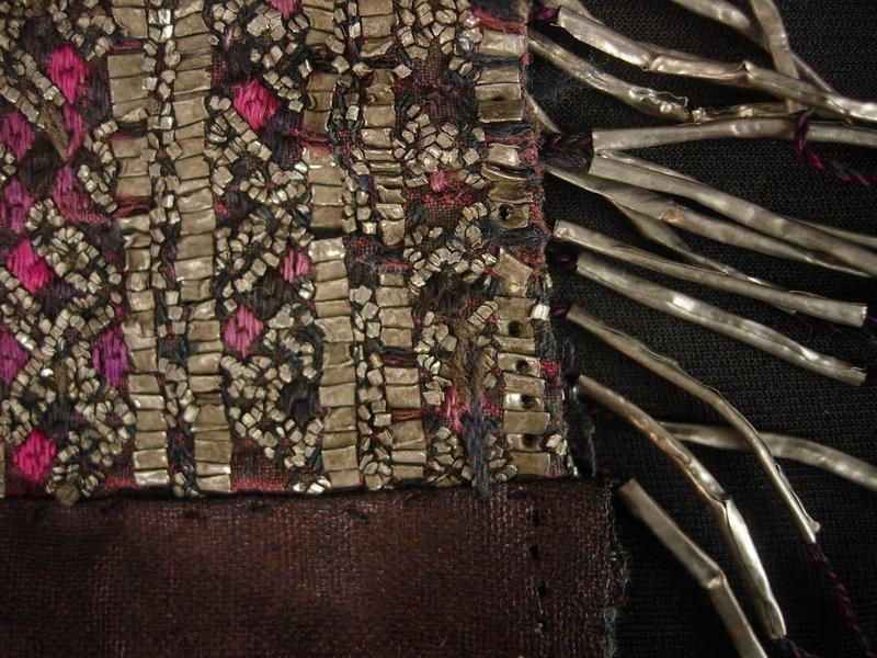 Jiupang Miao Tin Embroidered Panel