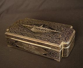 Niello Thai Silver Box