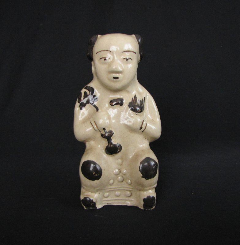 Qing Cizhou Boy Carrying a Lotus ��窯