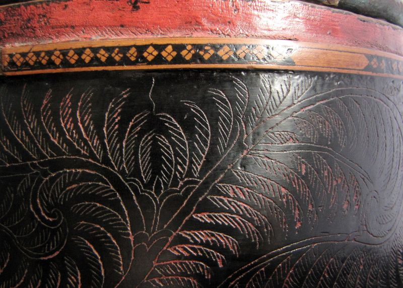 Cambodian Lacquer Betel Box
