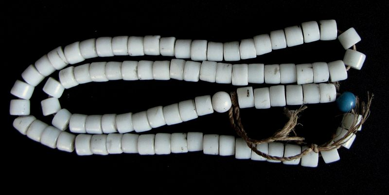 Nyishi White Glass Beads