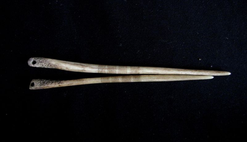Akha Bone Hair Pins