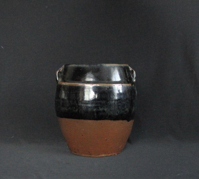 Ming Black and Russet Glazed Storage Jar
