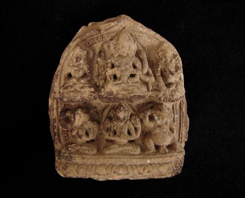 Mongolian Clay Votive Plaque