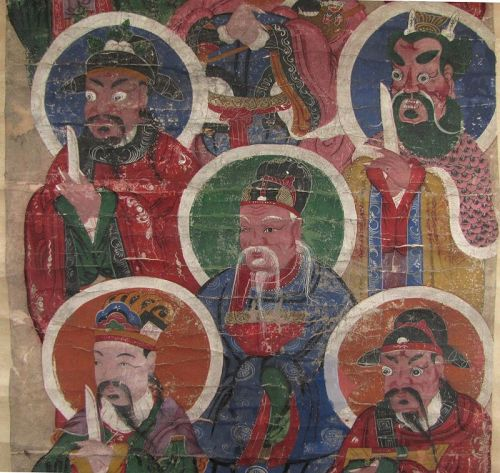 Qing Dynasty Taoist Temple Painting