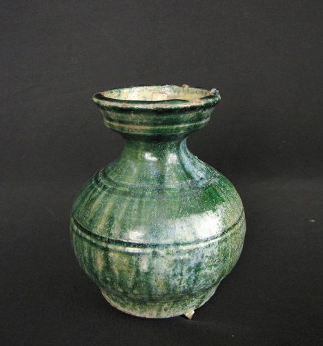 Han Dynasty Green Glazed Jar